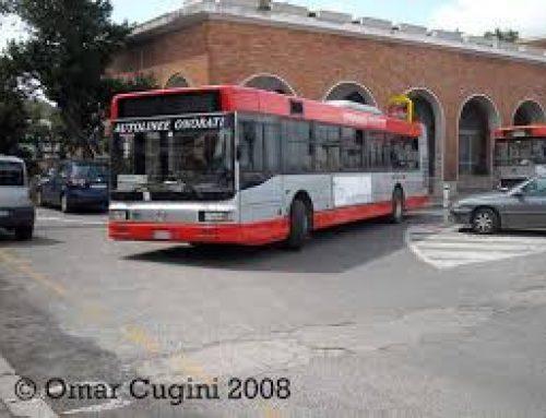 Albano Laziale, bus del trasporto pubblico locale perde gasolio in strada.